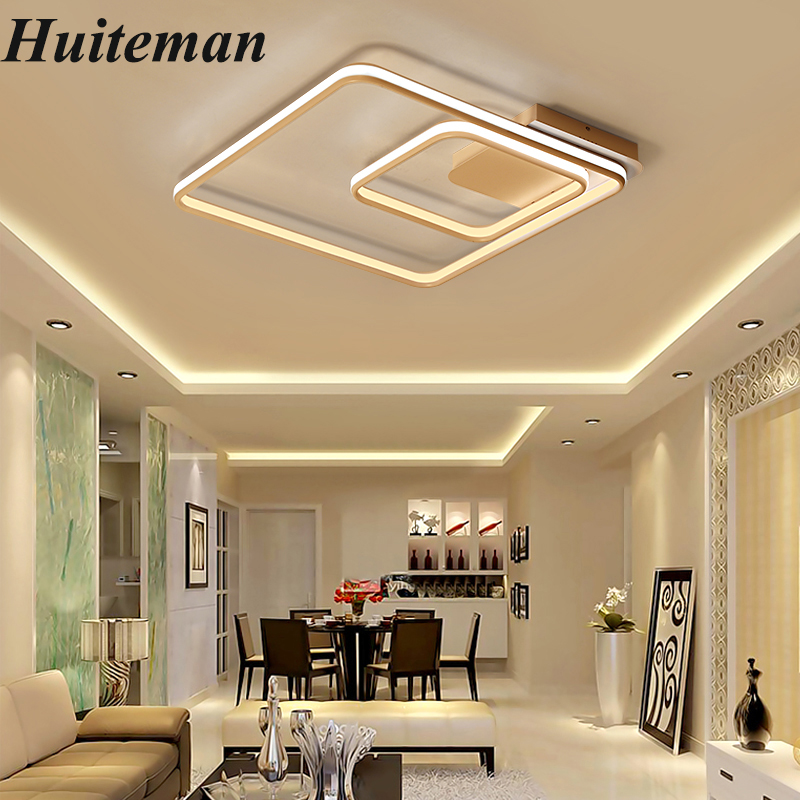New Aluminum Modern Ceiling Lights Acrylic White LED Ceiling Lamp Dimmable For Indoor Home Lighting Dining Room Bedroom Fixtures noosion modern led ceiling lamp for bedroom room black and white color with crystal plafon techo iluminacion lustre de plafond