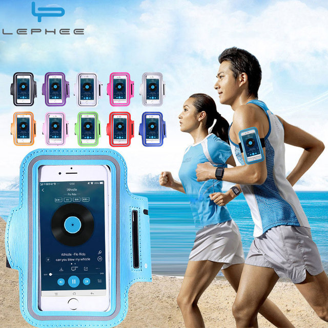 LEPHEE Водонепроницаемый Спорт повязку чехол для iPhone X 8 6 6 S 7 Plus Oneplus 5 тренировки Тренажерный зал Бег xiaomi mi A1 красный mi 4X телефона