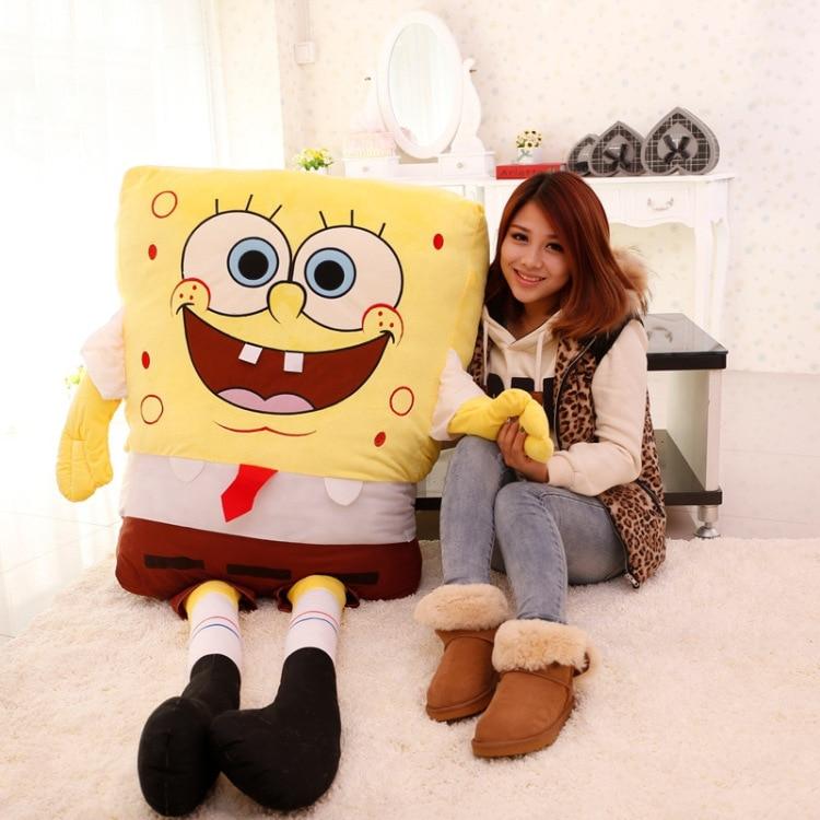 fillings toy ,larggest size 180cm sponge Bob soft plush toy spongebob hugging pillow birthday gift w5158 a gift from bob