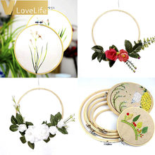 Sewing Tool Round Wooden Embroidery Hoops Frame Set Bamboo Embroidery Hoop Rings DIY Cross Stitch Needle Craft Tool 10cm-30cm(China)