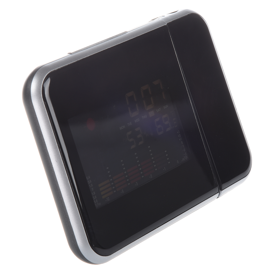 3.7 Digital LCD Screen LED Backlight Projector Snooze Alarm Clock Weather Station