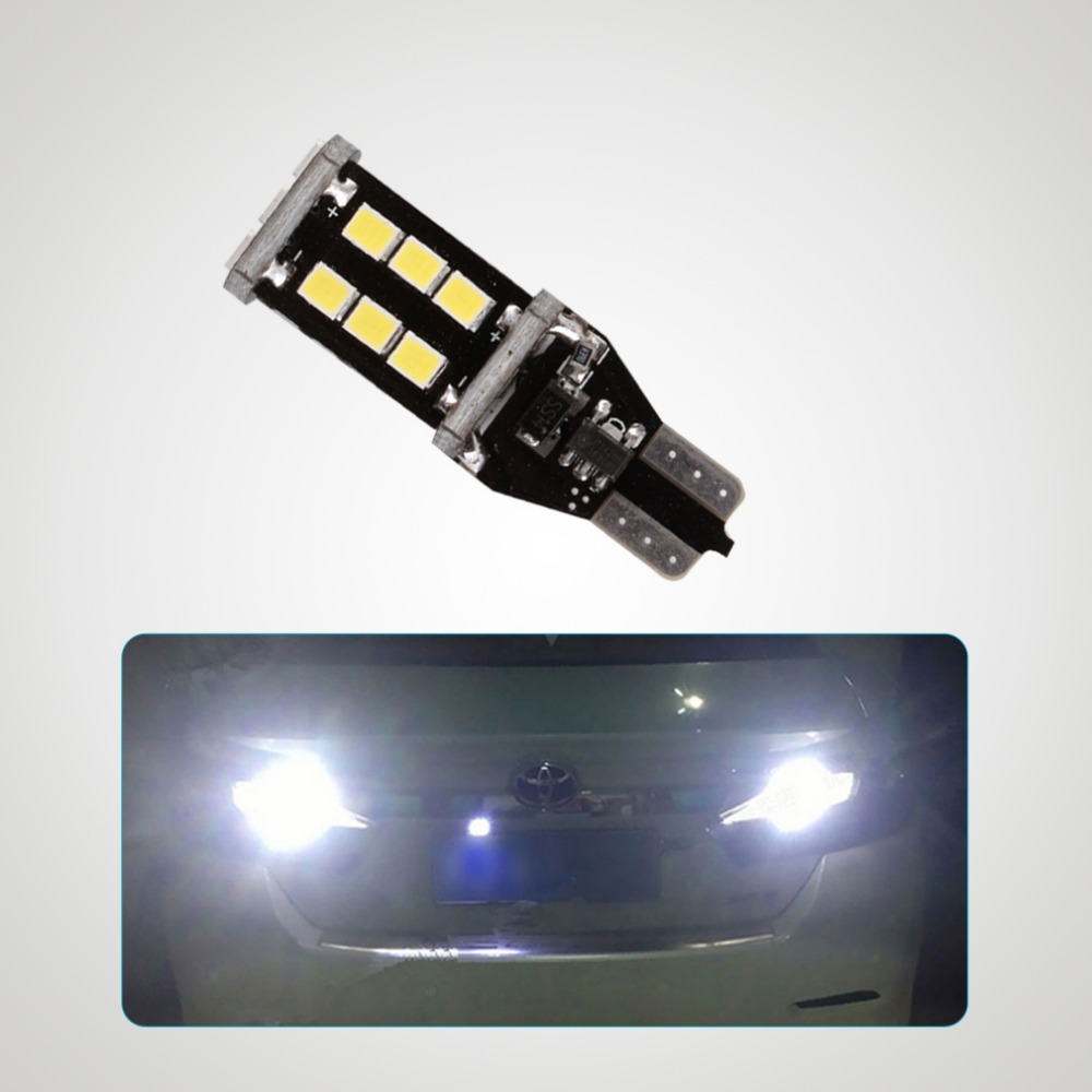 Extremely Bright Error Free 921 912 T15 T10 PX Chipsets LED Bulbs For Backup Lights, Xenon White 6000K 12V 2 x error free super bright white led bulbs for backup reverse light 921 912 t15 w16w for peugeot 408