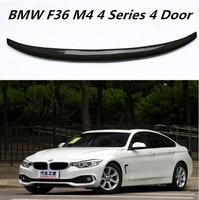 Углеродного волокна заднего крыла багажника спойлер для BMW F36 M4 4 серии 4 двери Gran Coupe 2014 2015 2016 2017 2018 BY EMS
