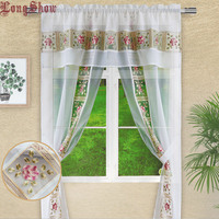 Creative White Mesh Fabric Embroidered Organza Patchwork Design One Piece Curtains for Living Room Bedroom Curtains