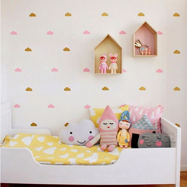1PC DIY Little Cloud Removable Sticker Child's Bedroom