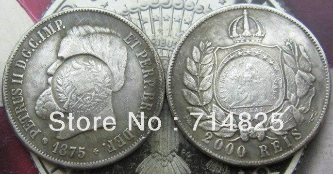 1875 БРАЗИЛИЯ 2000 Reis КОПИЯ