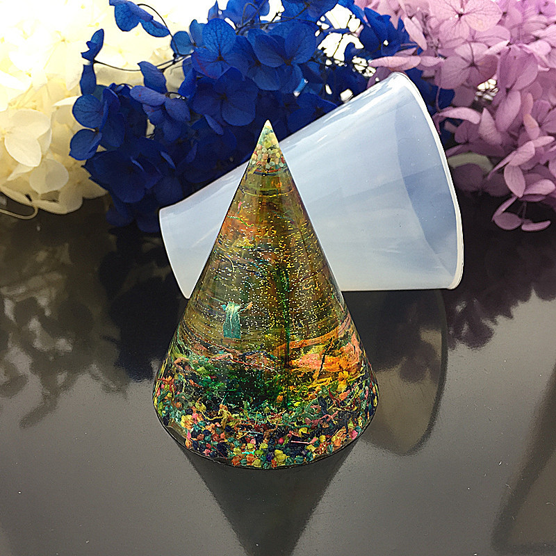 DIY Silicone Jewelry Making Epoxy Resin Molds Handmade Resin Mould Cubic Triangular Cone Round Jewelry Making Tools-in Cake Molds from Home & Garden