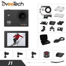 Câmera de Vídeo de ação com Wi-fi 1080 p Full HD Cam 30 m Capacete Da Bicicleta Do Esporte Câmera subaquática Esporte Cam Mini Portátil Dveetech J1