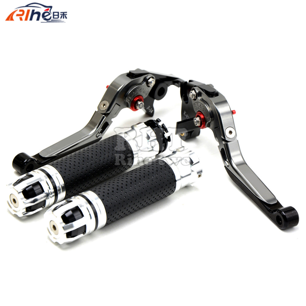 Handlebar Motorcycle Handle Bar Grips Adjustable Clutch Brake Levers For KAWASAKI ZX10R ZX-10R  06 07 08 09 10 11 12 13 14 15 adjustable short folding clutch brake levers for kawasaki z 1000 sx z1000sx 11 12 13 14 15 zx 10 r 06 07 08 09 10 2014 2015