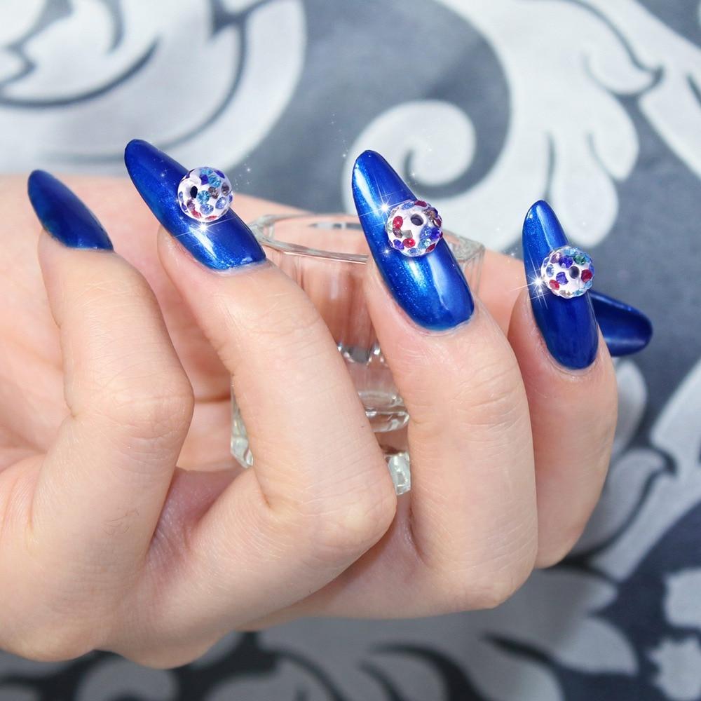 10pcs 3D Big Alloy Nail Rhinestones Design,Flower Nail Art ...