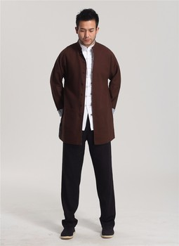 New Arrival High Quality Chinese Traditional Men's Two-side Cotton Linen Kung Fu Jackets Clothing Coats M L XL XXL 3XL