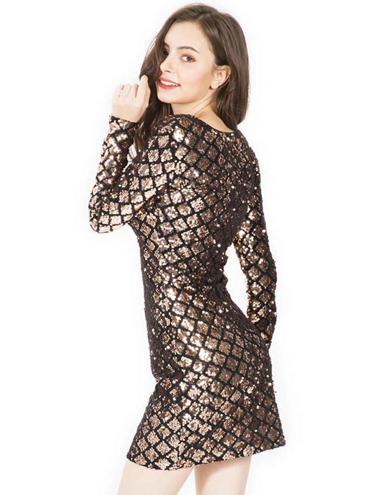 Сексуальное платье с v-образным вырезом и блестками, женское мини-платье, красное, черное, блестящее, облегающее, вечернее платье, женское клетчатое Элегантное зимнее платье, Vestidos