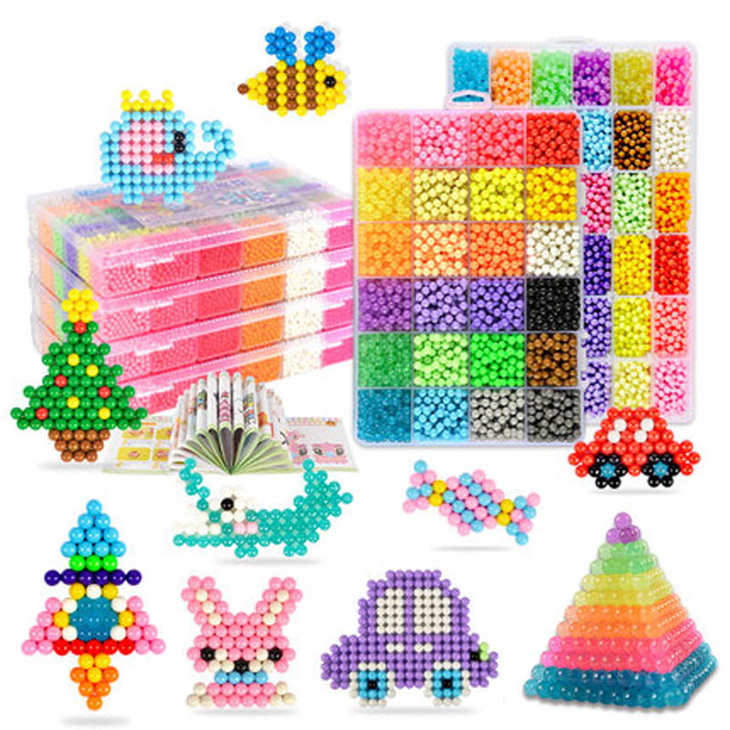 24 Colors Super set ! Aquabeads Perlen 3d Puzzle Magic Beads Hama Beads Perler Beads Aqua Beads Puzzles Kids Toys Birthday Gift цена