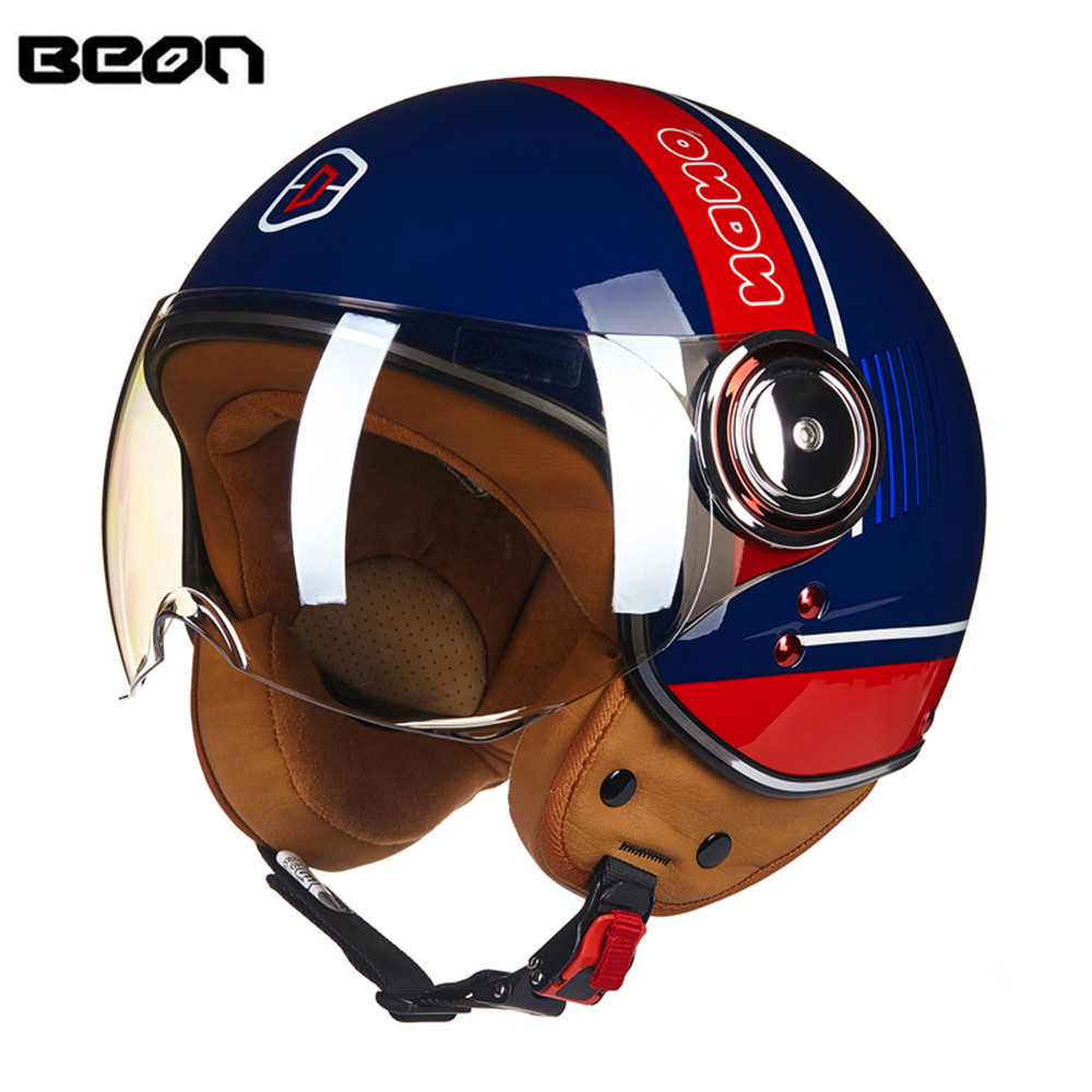 Brand New ECE Motorcycle Helmet Chopper 3/4 Open Face Vintage Helmet 110D Moto Casque Casco motocicleta Capacete Unisex helmets