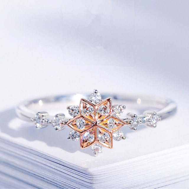 3ba00a2294ebda קנו טבעות | ROMAD Cute Women's Snowflake Rings Female Chic Dainty ...