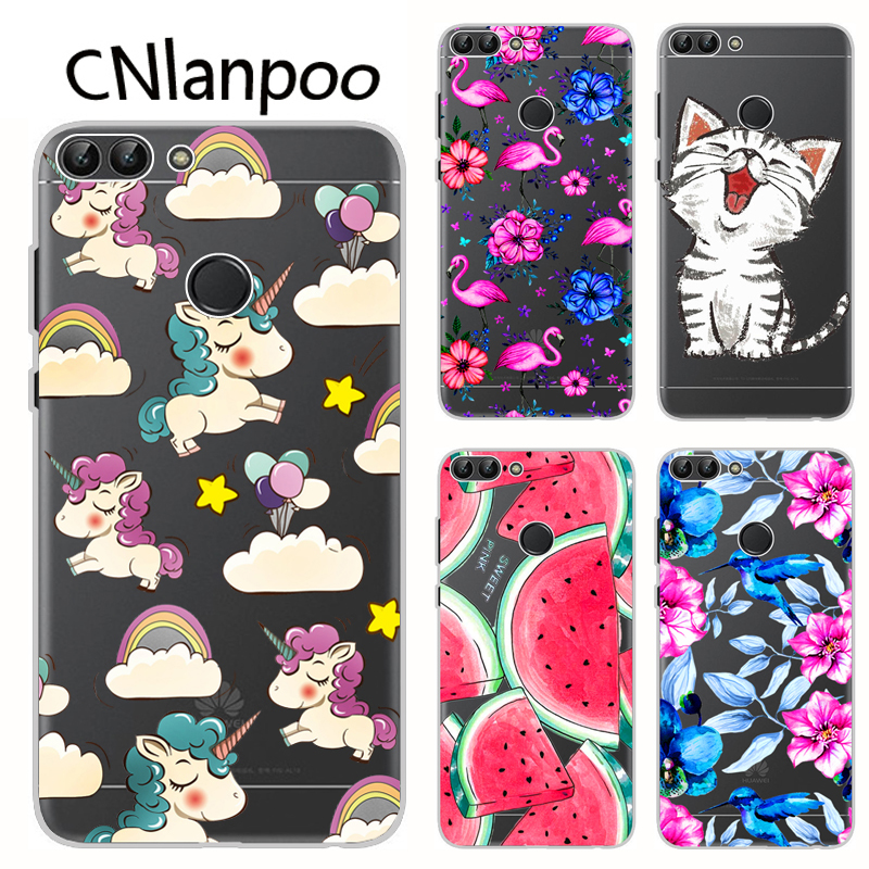reputable site 025cc 16772 US $1.89 5% OFF|For Huawei Huawei P Smart Case Cover Cartoon Soft TPU  Silicone Phone Back Cover Protective Case For Huawei PSmart Fundas-in  Fitted ...