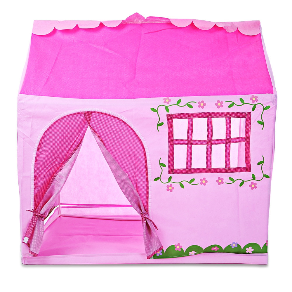 Portable Princess Castle Play Tent with Carry Bag Child Toy Tent Kids Game House Toys Tents Play Tent Brithday Xmas Gifts mrpomelo kids toy tent solid color indian white tents with window 100