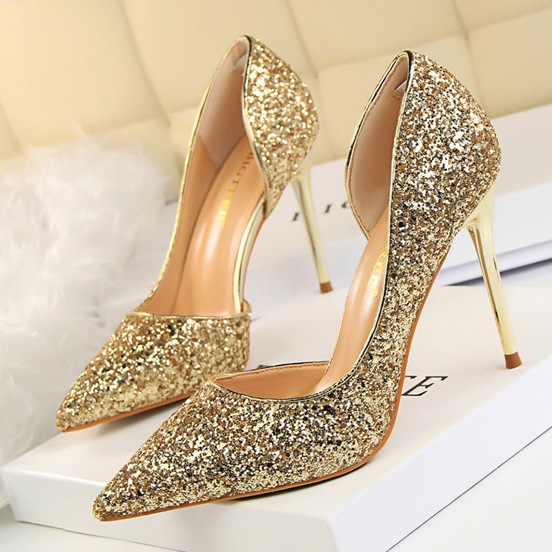 wedding shoes with bling women pumps bling high heels women pumps glitter high heel 1138
