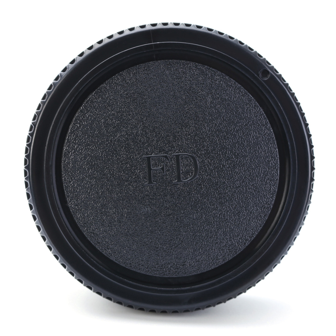 MAYITR 1pc Professional Camera Plastic Front & Rear Lens Caps Cover Black Suitable For Canon FD Body and Lens