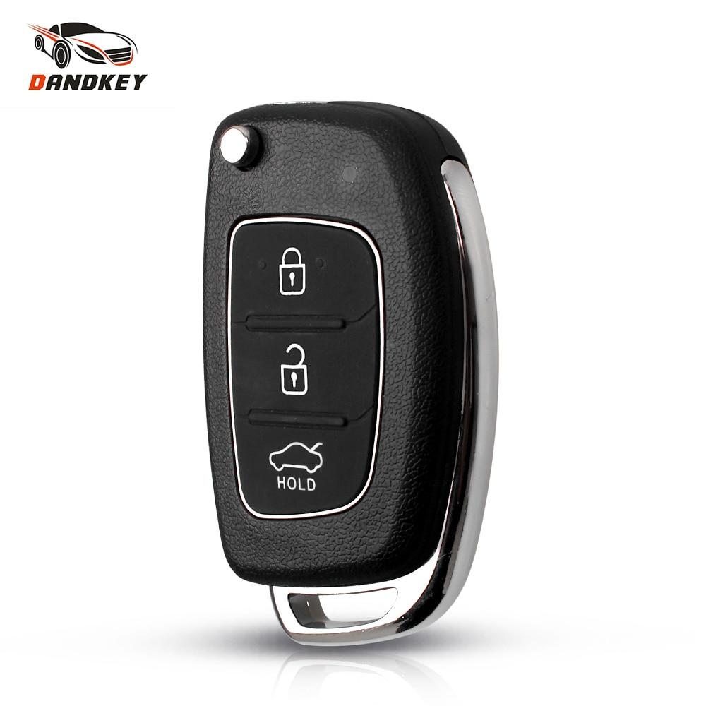 Dandkey разблокированный ключ с 3 кнопками, откидной пульт дистанционного управления, пустой корпус, чехол для автомобильного ключа для Hyundai Solaris i10 i20 i30 i35 i40 IX45 Series Key