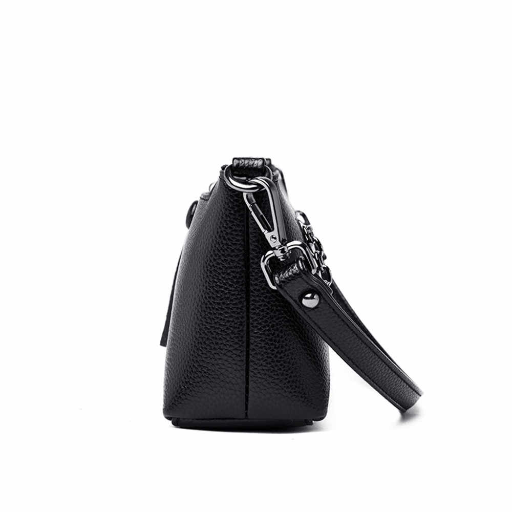 Yüksek Kaliteli Kadın Çanta Lüks Deri postacı çantası Moda Crossbody Bayanlar omuz çantaları Kadın Düz Küçük Flap Çanta Sac