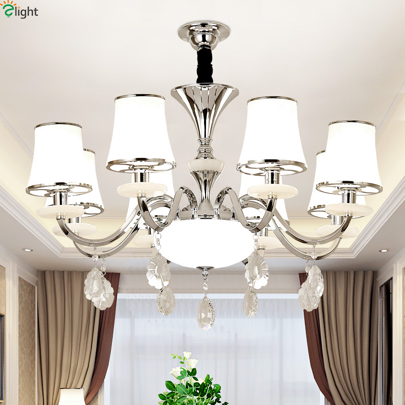 Modern Chrome Metal Led Chandeliers Lighting Dining Room Marble Led Pendant Chandelier Lights Living Room Hanging Lamp Fixtures high 8 5 inch red led desktop display board portable rechargeable usb programmable moving message store led business sign board