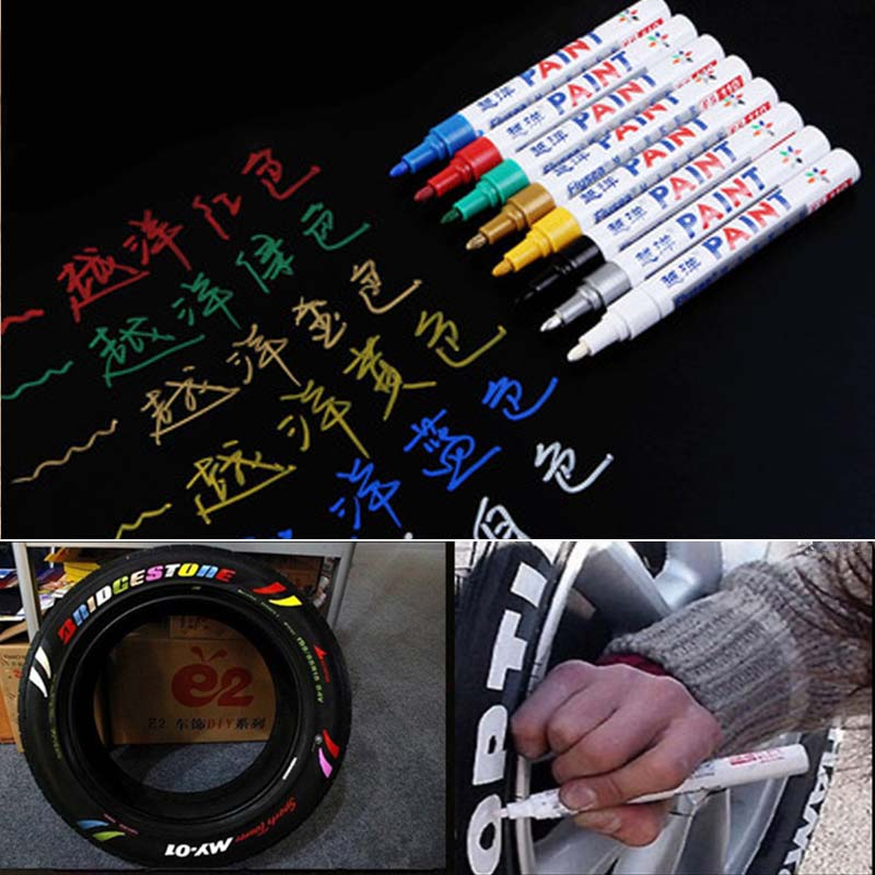 Car Motorcycle Auto Wheel Tyre Tire Paint Marker Pen Colorful Waterproof Car Wheel Tyre Tire Tread Paint Markers Car Accessories