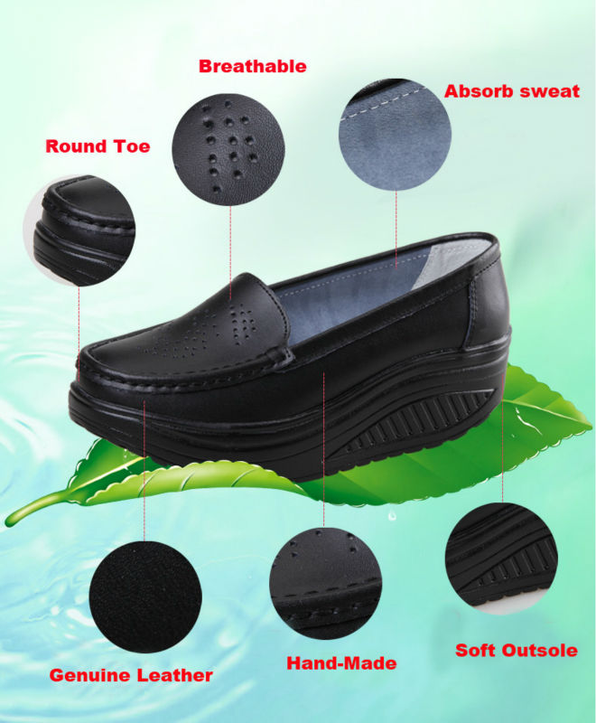 New Womens Shake Shoes Lady Genuine Leather shoes (12)