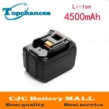 18v 4500mAh Li ion Power Tool Battery for Makita Battery BL1830 BL1815 194205 3