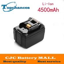 18v 4500mAh Li-ion Power Tool Battery for Makita Battery BL1830 BL1815 194205-3