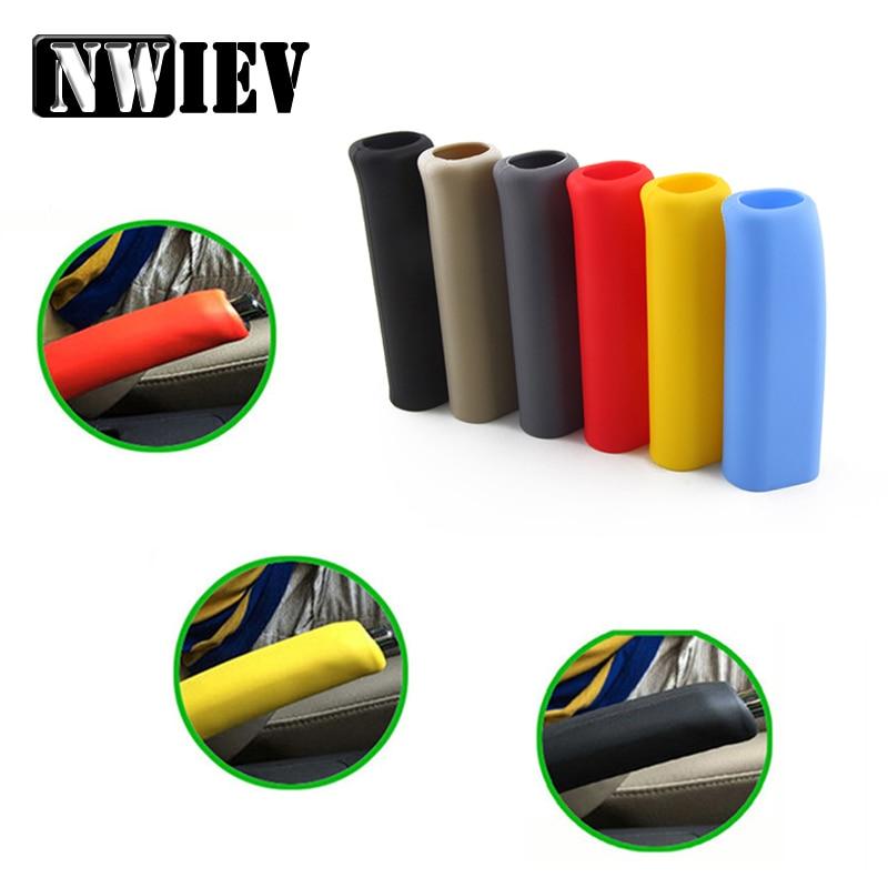 NWIEV Car Hand Brake Grips Covers For BMW E46 X5 Peugeot 307 206 407 Citroen C4 C5 Honda Civic Accord CRV Lada Vesta Accessories