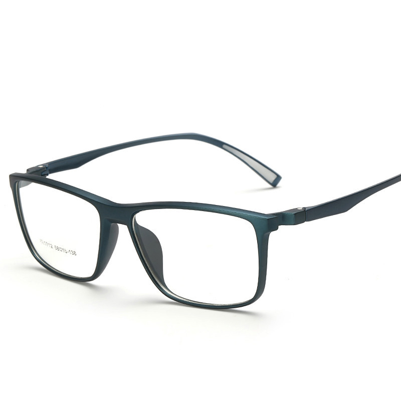 fashion male big oversized square optical prescription tr90 glasses frame men ultra light soft myopia reading