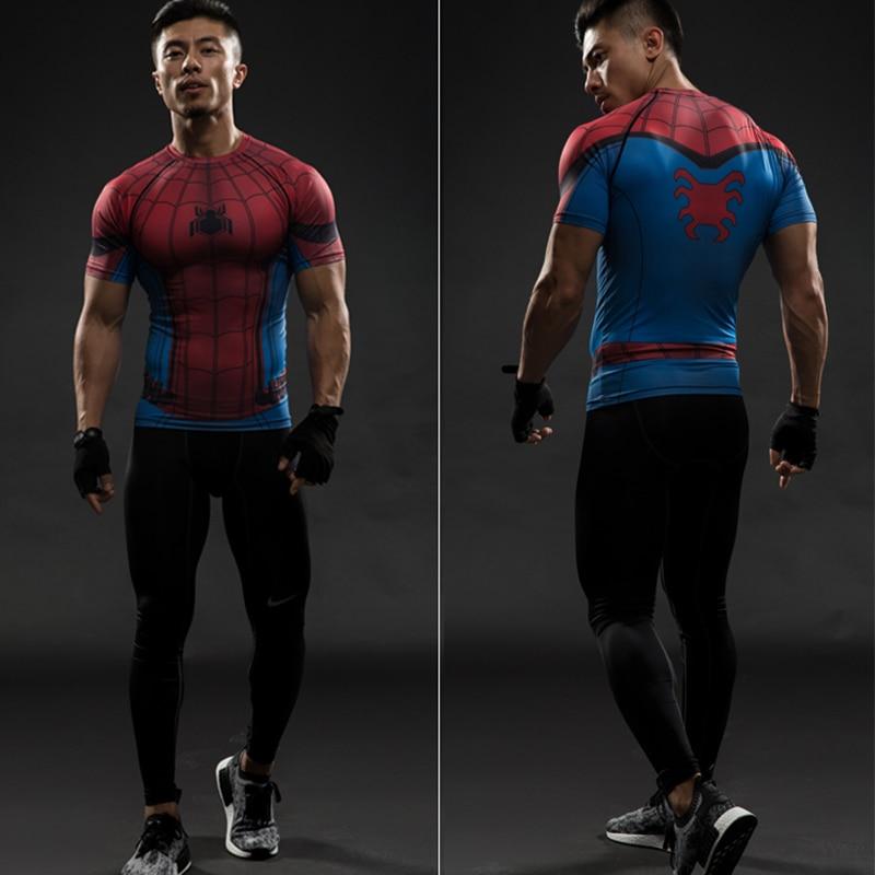cca41104 2018 Summer Hot Sale Spider Man 3D Printed T Shirt Captain America Civil  War Tee Men Avengers Fitness Cosplay Slim Fit Tops Male