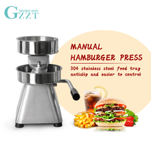 GZZT Manual Hamburger Press Forming Machine Burger Paper Round Meat Food Processors 150mm IT-150 Patty Maker With 500pcs