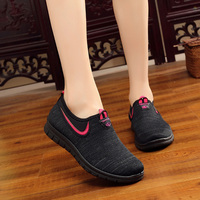 Lightweight Breathable Mesh Women Shoes Flats Shoes Leather Soft Sole Shoes