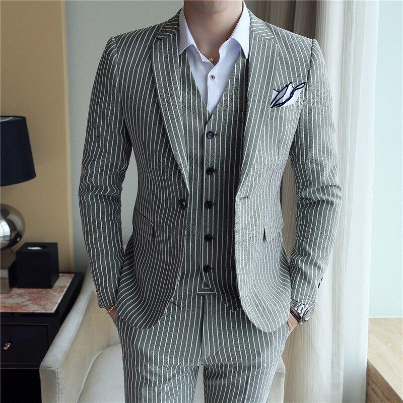 Мужской приталенный костюм Uomo, вечерний приталенный костюм в полоску, для смокинга, 5 цветов