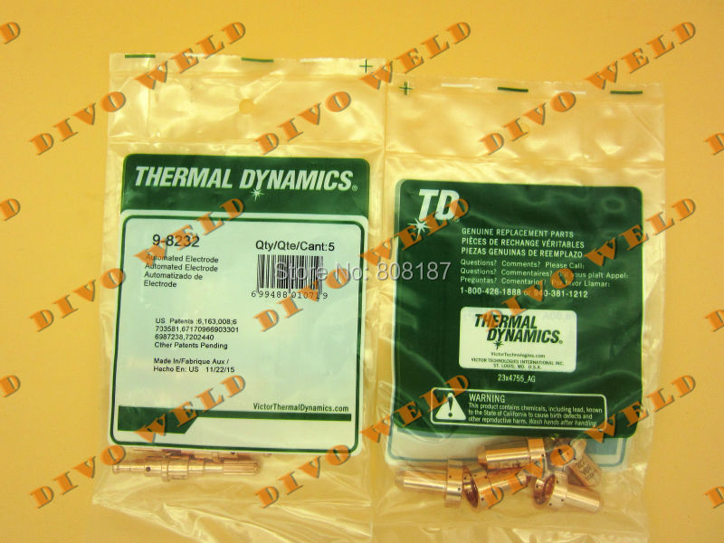 100pcs+100pcs 9-8208 and 9-8232  for thermal dynamics SL60~SL100 Free shipping TNT(4 day you will get after paid)