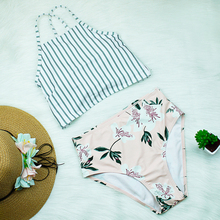 Bikini 2019 New Sexy High Waist Bikinis Swimwear Women Swimsuit Push Up Bikini Set Bathing Suit High Neck Summer Beach Wear Pink brand set sexy swimwear bikini beach wear skull hand printed bikinis women new design black bathsuit swimsuit plavky y03028