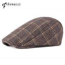 7c12ac95ea299 Fibonacci 2018 nuevo de alta calidad Plaid Newsboy sombreros planos Vintage  Cabbie Gatsby Ivy sombreros para hombres mujeres .