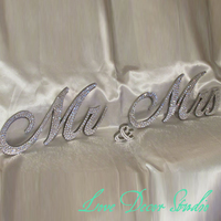 5 Mr Mrs Sign Sweetheart Table Wedding Sign Bling Mr And Mrs