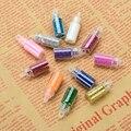 12 Colores Brillo Del Clavo 3D Nail Art Decoración de Uñas de Arte Punta De La Botella Set Envío gratuito # FM031