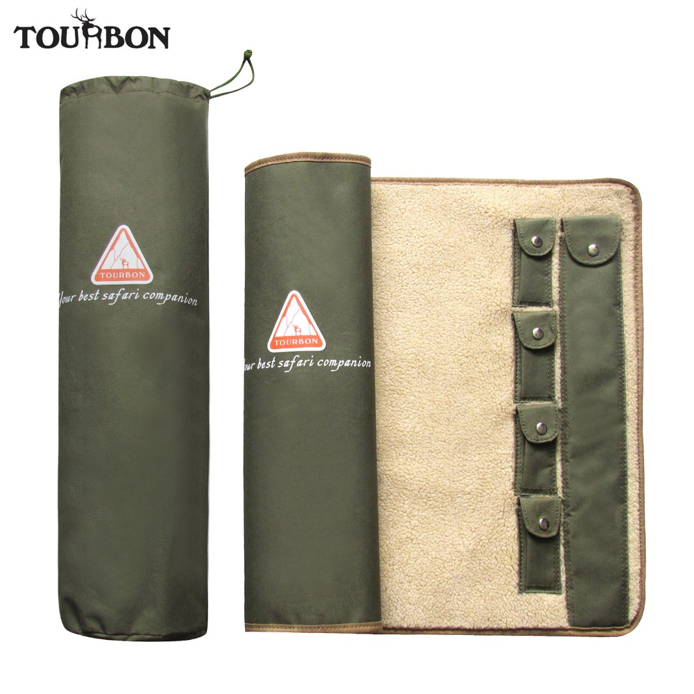 цена на Tourbon Hunting Shooting Accessories Gun Rifle Cleaning Mat with Fleece Universal Cleaning Care Kit Equipment 105.5*51.5cm