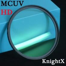KnightX – filtre MCUV HD MC UV, pour Pentax Sony Nikon d5300 600d d3200 d5100 d3300 550D 600D lentes d5500 d7200 49 52MM 58MM 67MM
