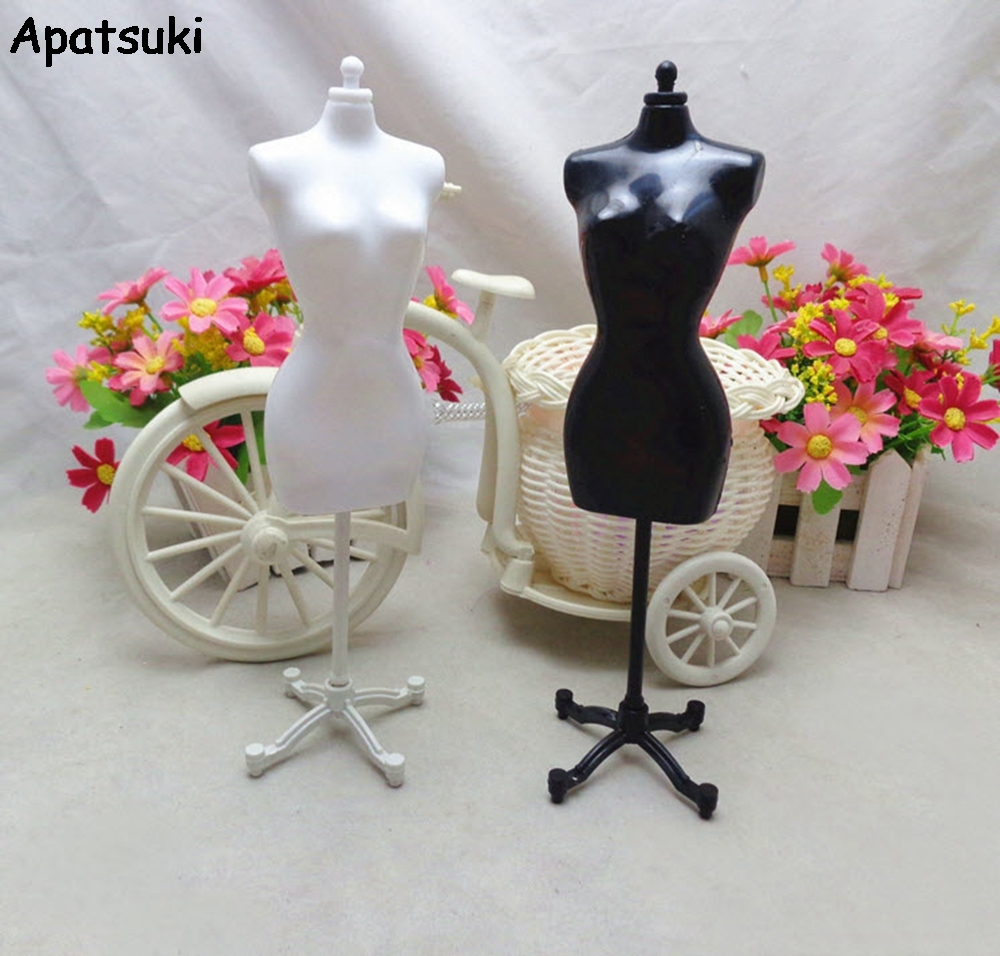 2pcs/lot 1:6 Models Display Holder Dress Clothes Gown Mannequin Model Stand For Barbie Doll Clothes Kids Toy new 2pcs female right left vivid foot mannequin jewerly display model art sketch
