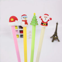 4 pcs/lot Christmas Pen Cute Kawaii Santa Claus Neutral Pen Gel Pens Black Ink 0.38mm for Kids Christmas Gifts Stationery Gifts(China)