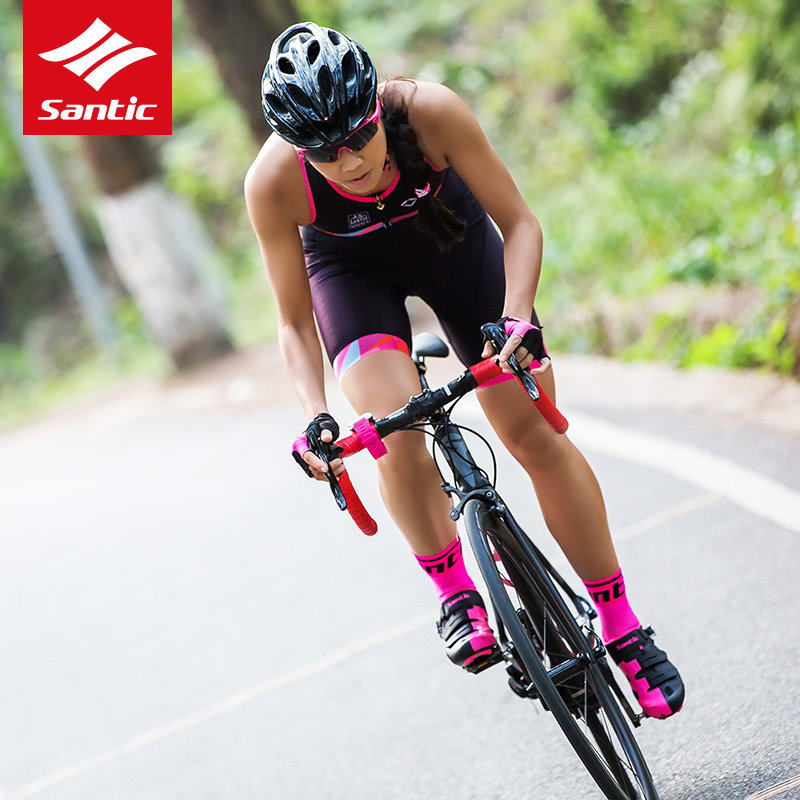 US $67 54 30% OFF|2018 Santic Cycling Jersey Women Sleeveless Pro Triathlon  Bike Clothes Road Racing Bicycle Sportswear Ropa Ciclismo S XL-in Cycling