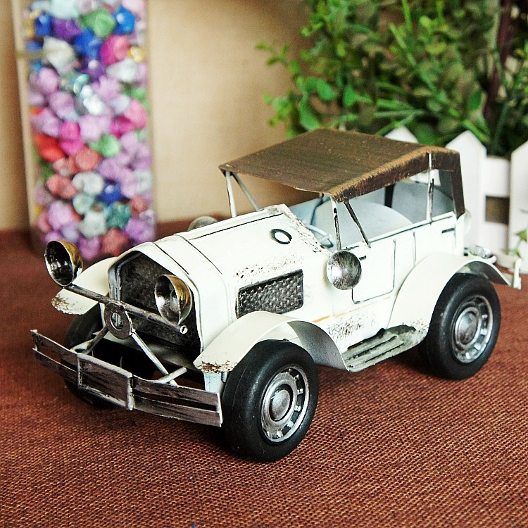 Handmade Retro Iron Bubble Car Model Ornaments Vintage Metal Bubble Car Crafts Home Decor Xmas Gift Kids Gift Free Shipping car ornaments solar airplane model aircraft interior model car gift ideas
