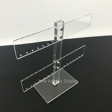 Clear Acrylic Earring T-Bar Display Tree Holder Jewelry Necklace Bracelet Stand