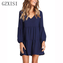 women dress winter red plus size dress mini autumn loose solid lantern sleeve vintage befree ladies short office party dress шапка befree befree mp002xw1213h