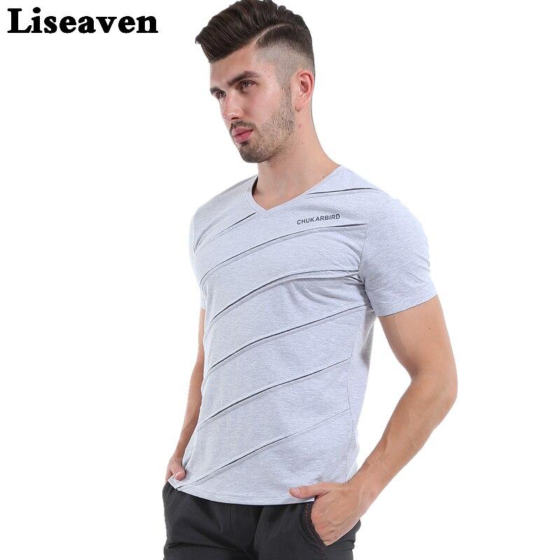 Topy z dekoltem w kształcie litery U | Męskie T shirty z
